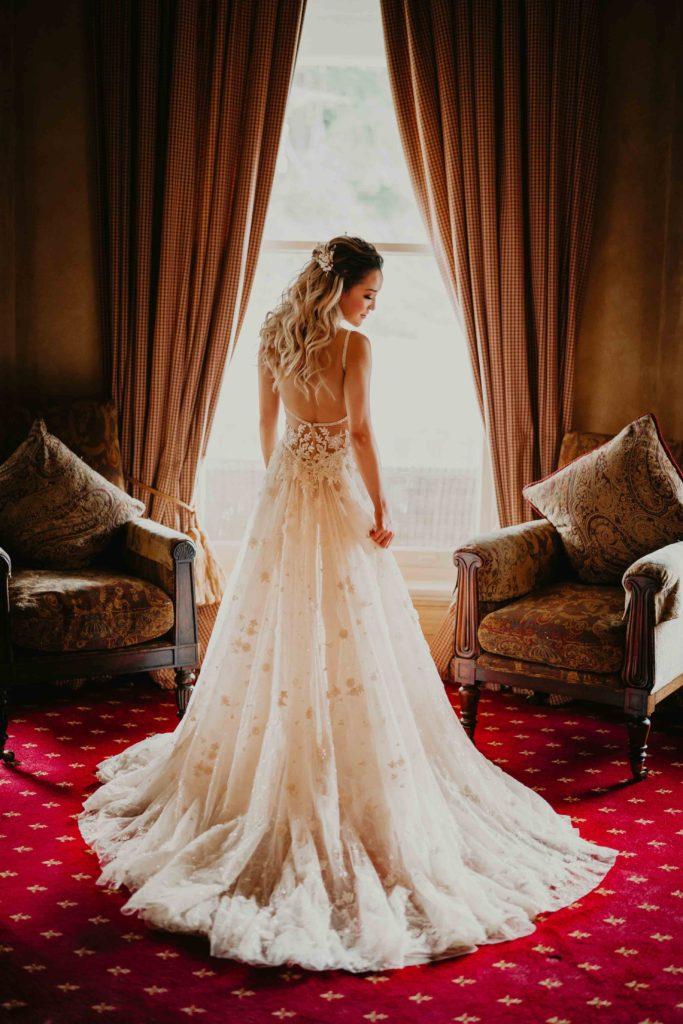 Bride indoors at Milton Park