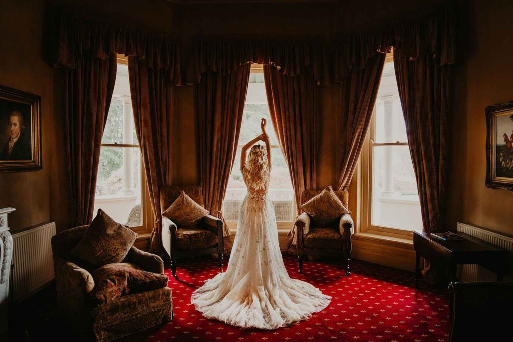 Bride indoors at Milton Park