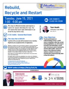 Rebuild, Recycle and Restart