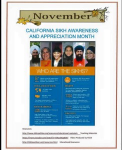 Sikh Awareness and Appreciation Month poster