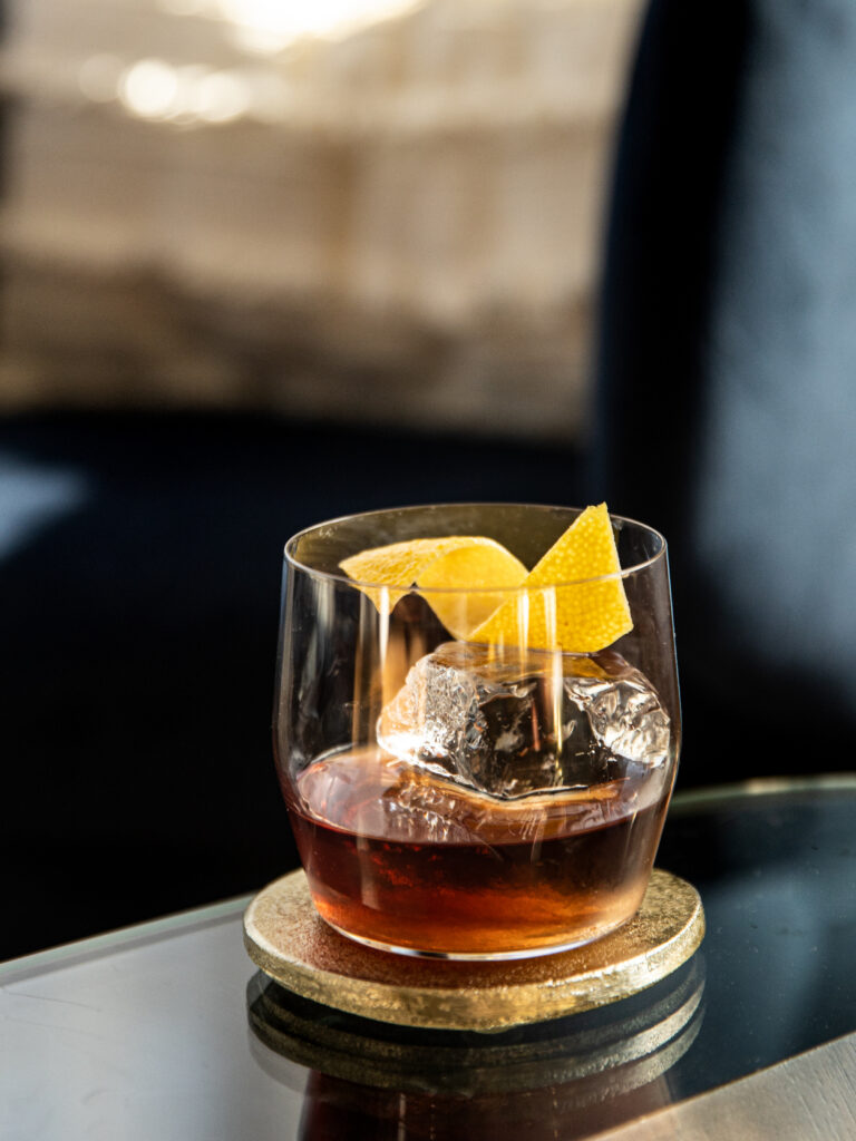 spiced red wine old fashioned with Cooper & Thief by Apartment Bartender