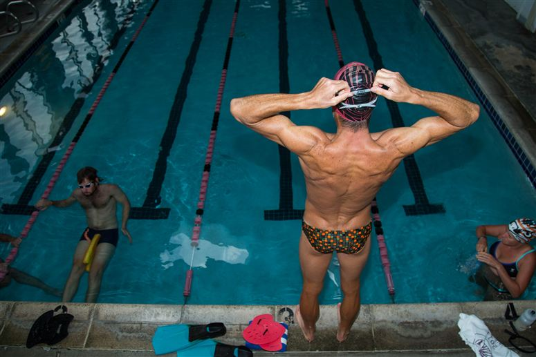 Crowie preparing for a swim session. Photo from Specialized