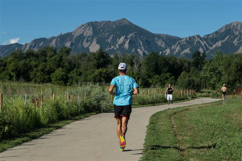 Running at high altitude at Boulder, Colorado. Photo from Specialized