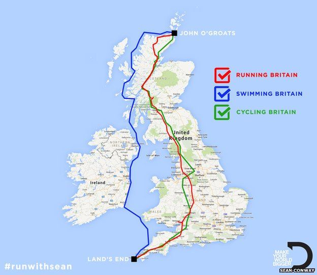 SeanConway Ultimate British Triathlon route