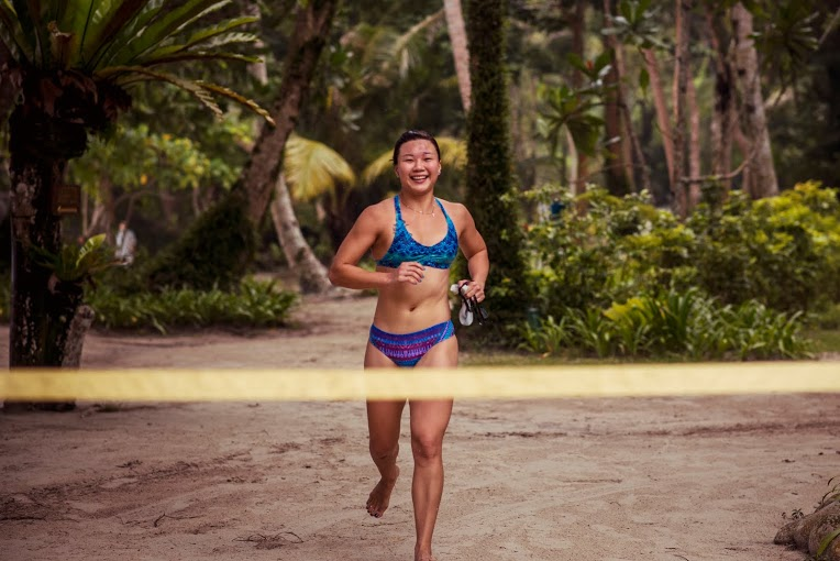 SEA Games Gold medallist, Kimbeley Yap finishes the Chapman's Challenge.