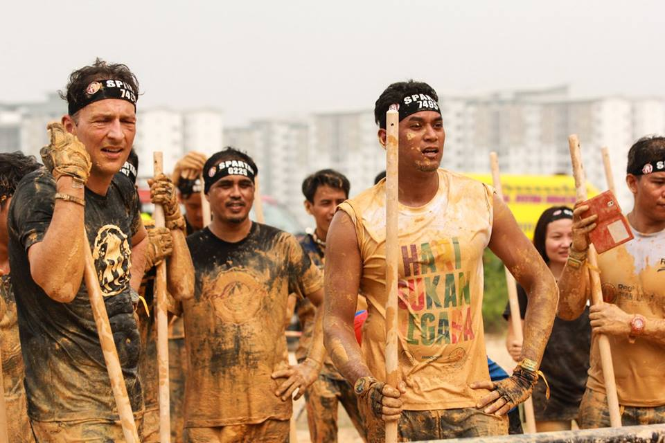Spartans toughen up and throw spears, and not the towel. Photo from Spartan Race MY