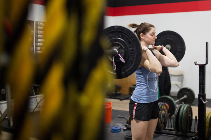 """""""CrossFit is family, laughter, love and community,"""" - Ali Huberlie. Photo from New York Times"""