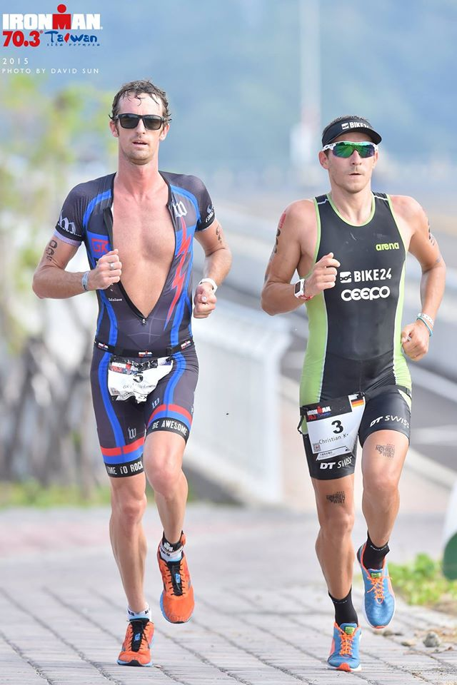 Guy Crawford en route to a win at Ironman 70.3 Taiwan. Photo from Facebook/Ironman 70.3 Taiwan