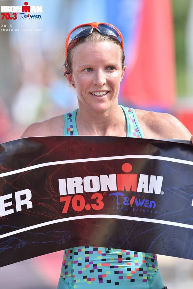 Gina Crawford secures a narrow victory at Ironman 70.3 Taiwan. Photo from Facebook/Ironman 70.3 Taiwan