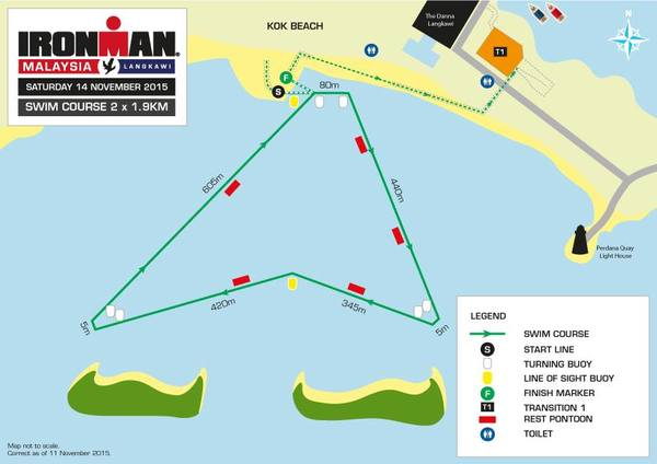 IMPORTANT INFORMATION - Updated Swim Course Map. Image from Ironman.com