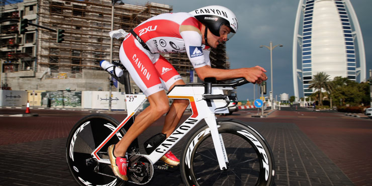 Jan Frodeno wins Ironman 70.3 Dubai 2016. Photo from Ironman.com