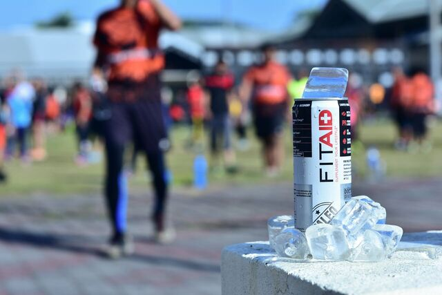 Nothing like a refreshing can of FitAID after your intense workout