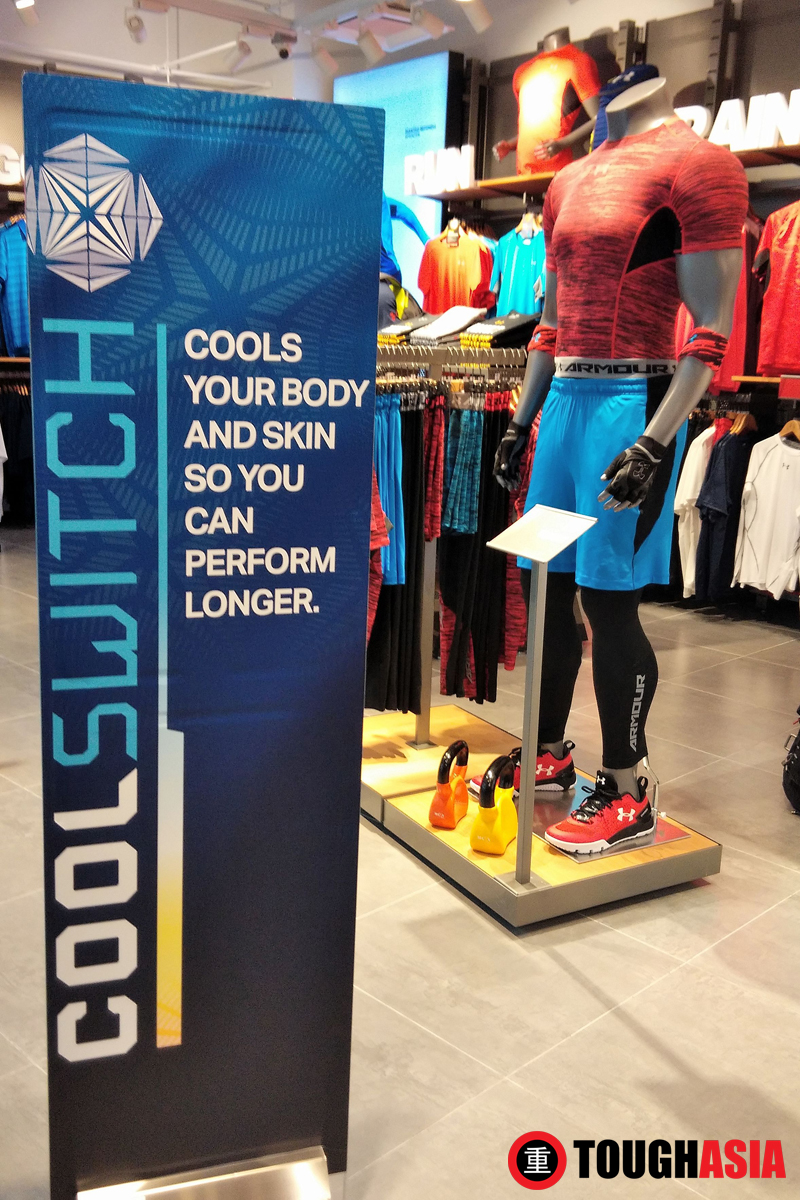 The new CoolSwitch range is now available at Under Armour Queensbay Mall