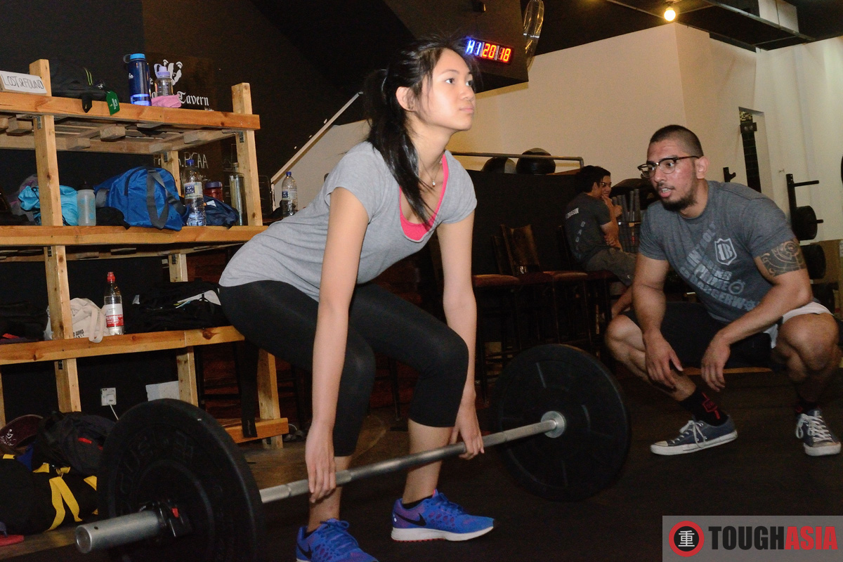 Michelle learned the ropes to the deadlift pretty quickly as a newbie