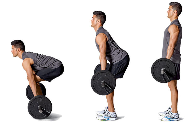 The Deadlift strengthens your posterior chain - the stride-driving muscles in your hamstrings and glutes (Runnersworld.com)