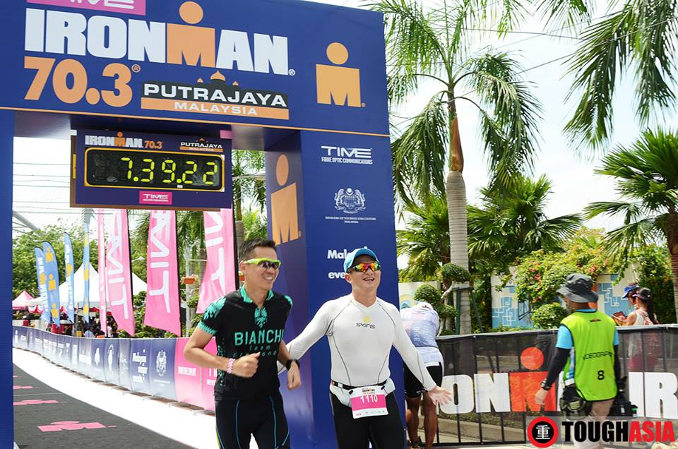Mission accomplished! Team Tough Asia completes the relay at Ironman 70.3 Putrajaya