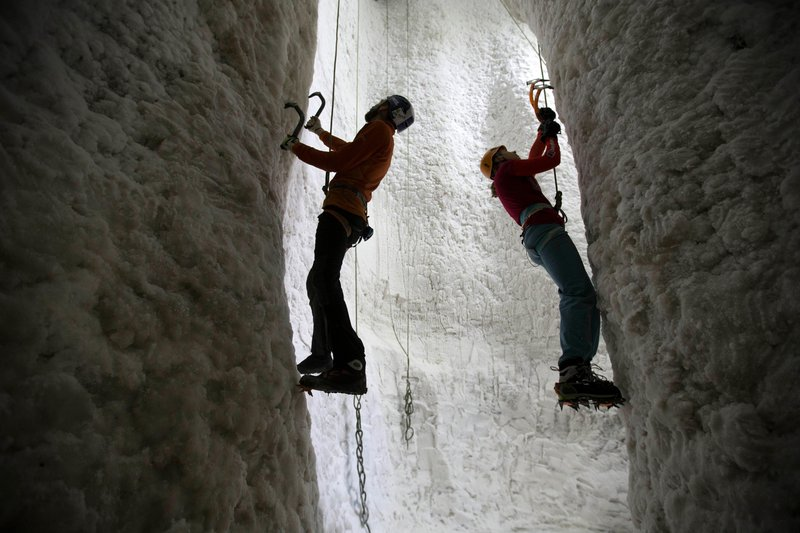 Shiver me booties... fancy ice climbing indoors? © Jeff Holmes
