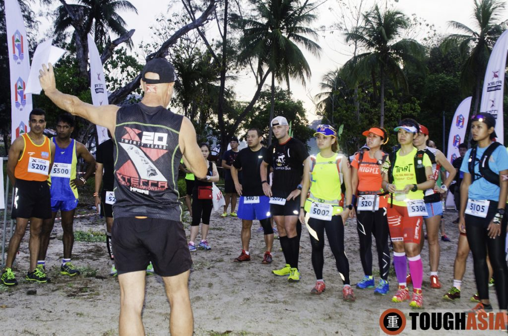 Race Architect, David Spence briefing participants on the trail run.