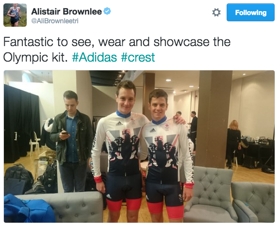 Image from Twitter/Alistair Brownlee