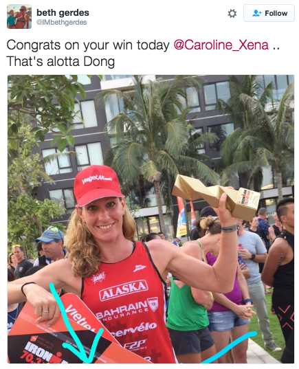 Caroline Steffen successfully defended her title at Ironman 70.3 Vietnam. (Twitter)