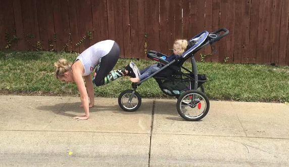 April's alternative to working out with your kid in the stroller. (Reebok.com)