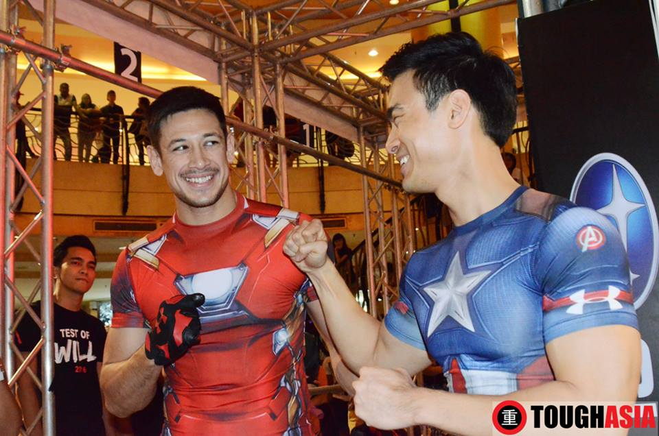 Peter 'Ironman' Davis and Kit 'Capt America' are ready for a showdown at Under Armour's Test of Will