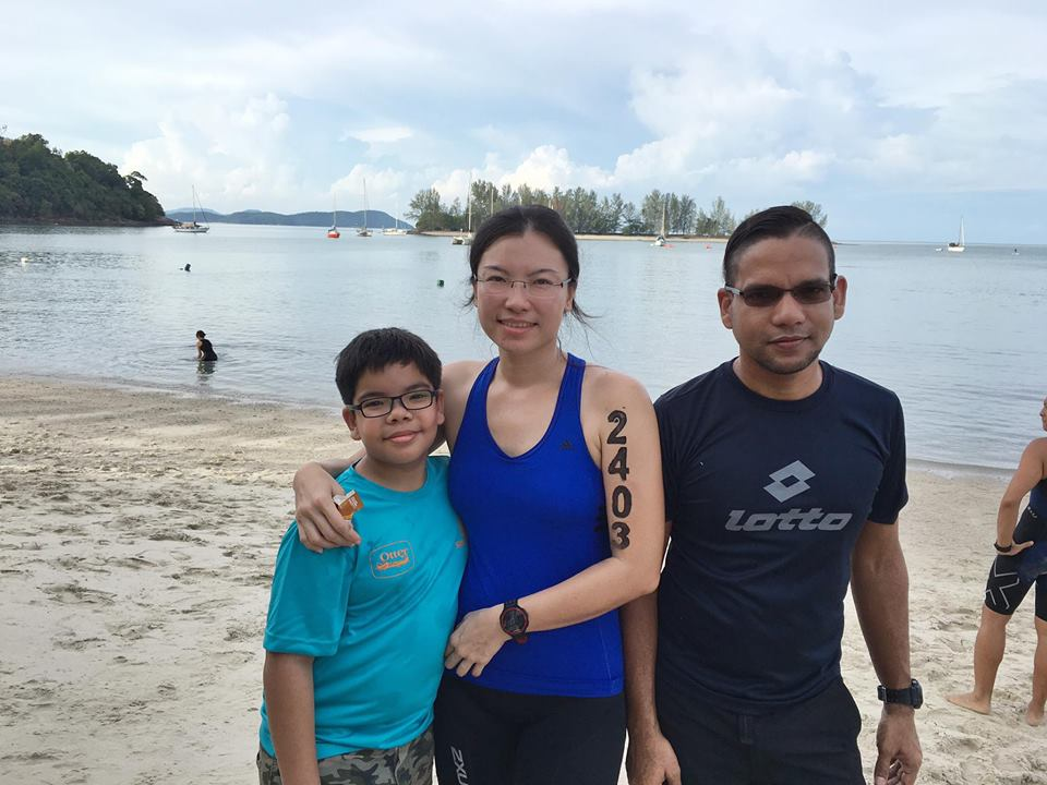 Alicia and her family 'support crew' on this Race-Vacation at Xterra Malaysia.