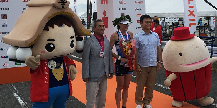 Annabel Luxford won top honours at the Ironman japan 70.3 (Ironman.com)
