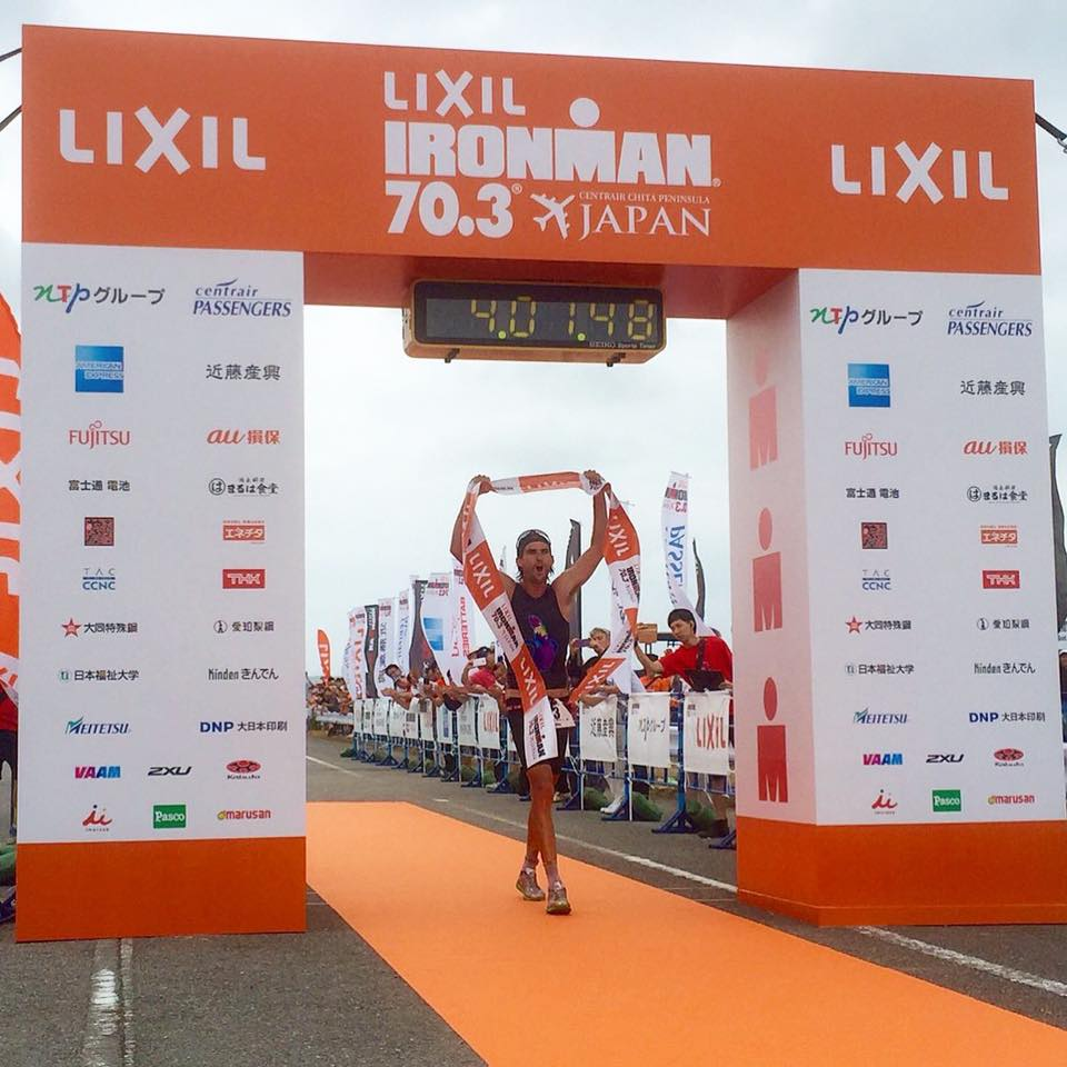 Mitch Robins wins Ironman japan 70.3. (Facebook/MitchRobins)