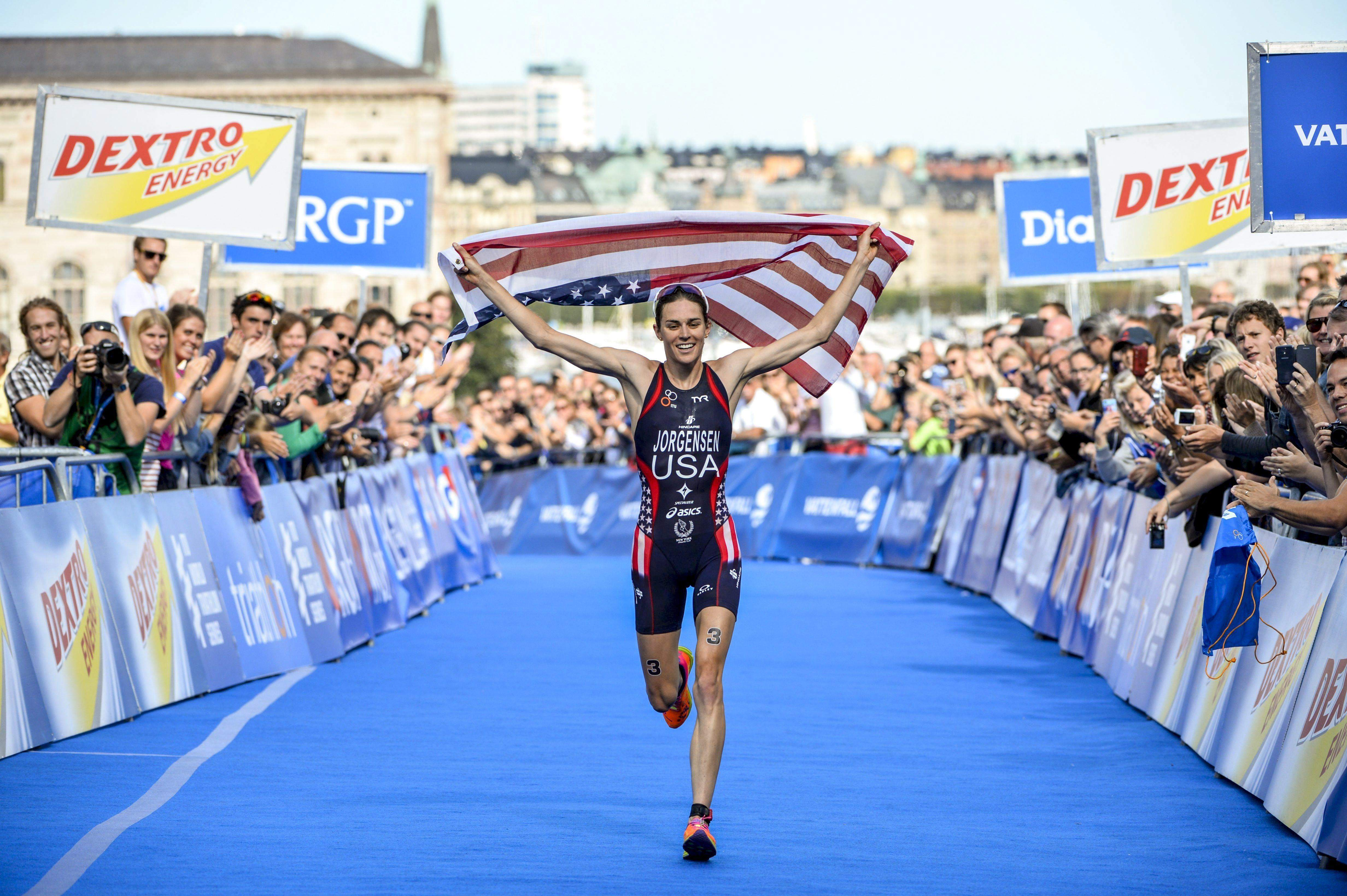Gwen Jorgensen will fly the American flag high in Triathlon at the Rio Olympics 2016. (AP)