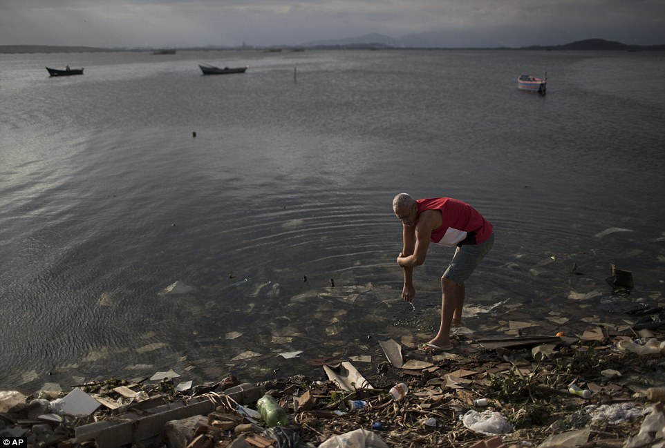 Filthy waters in Rio are filled with dangerous viruses and bacteria, not fit for swimming. (AP)