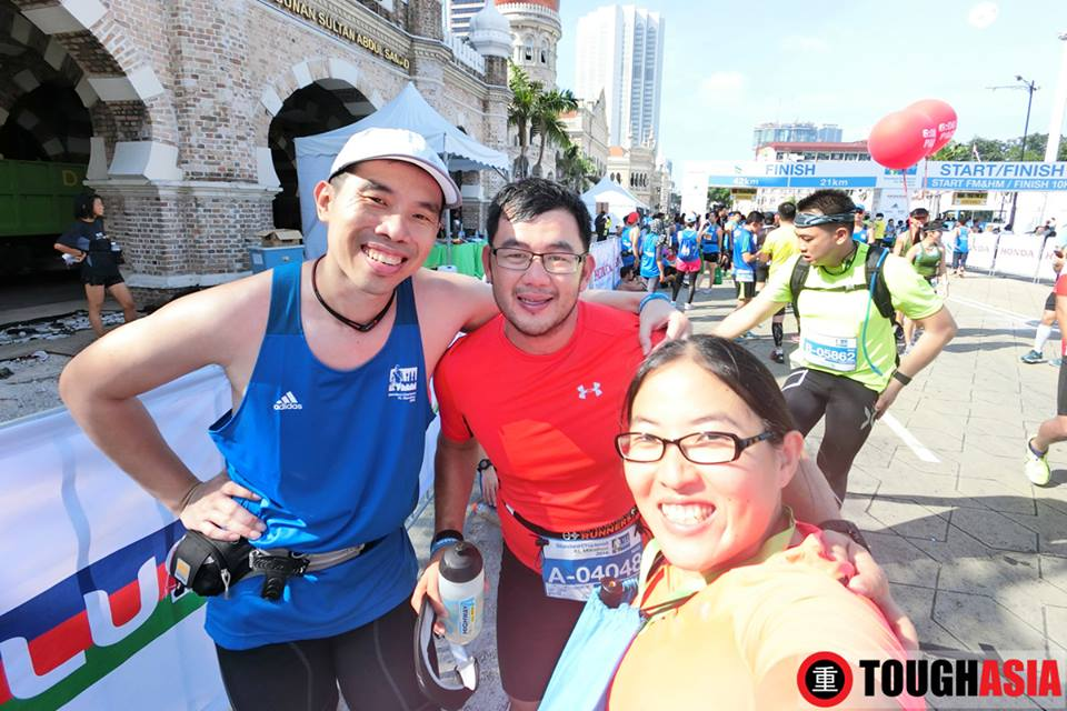 Compulsory wefie shots after the run, wefie shots are perfect with Casio Exilim FR100.