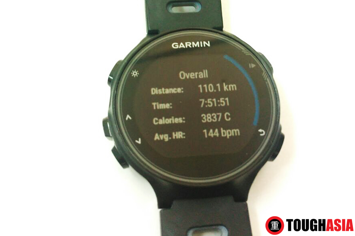 Overall triathlon stats on the Garmin FR735XT for multi-sports with GPS tracking.