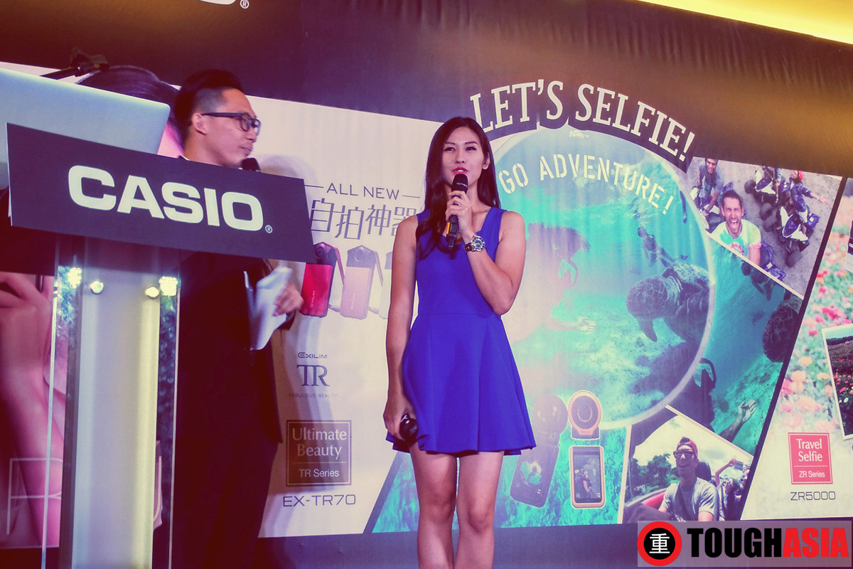 Malaysia's Drift and Rally car driver, Leona Chin talking about her experience using the camera as Casio's brand ambassador.