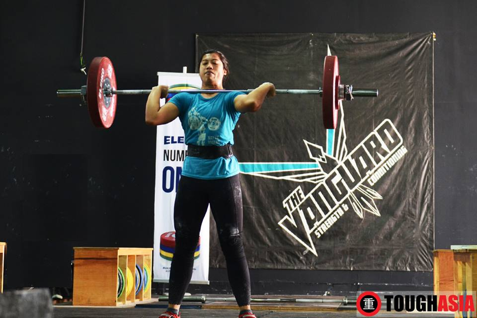 Maslina Ismail held the heaviest lifts at 70kg for the Snatch and 75kg for the Clean & Jerk.