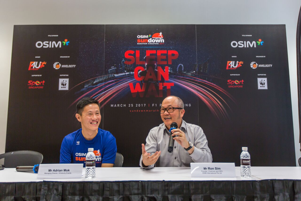 Adrian Mok (left), Managing Director of HiVelocity Events and Ron Sim(right), Founder, Chairman and CEO of OSIM International.