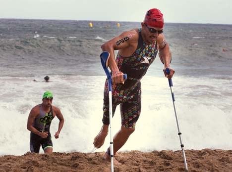 Becky Seiner's winning photo of Mohamed Lahna at Xterra World Championships in Maui, Hawaii. (Becky Seiner)