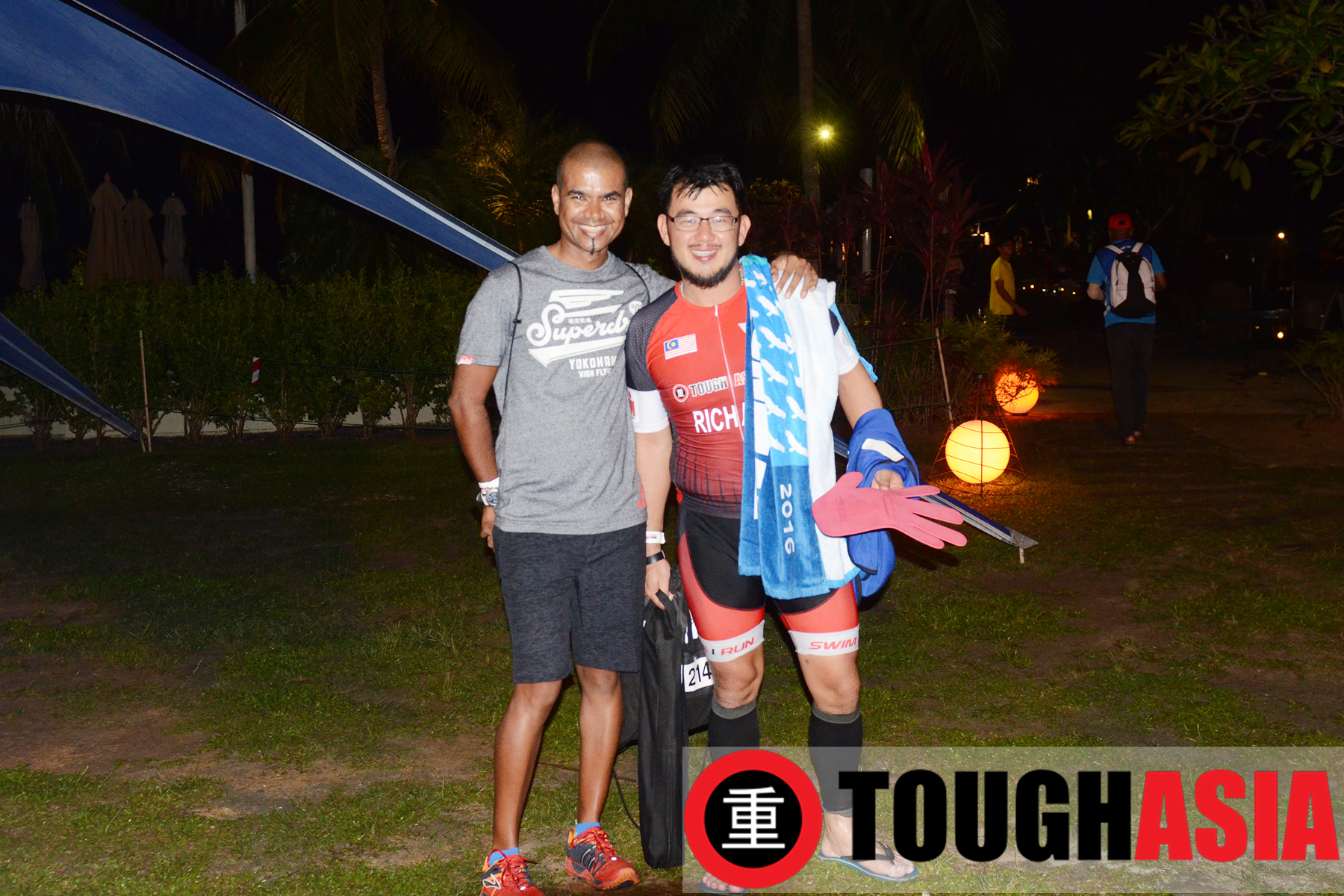 Ultraman Kannan (left) gave valuable advice in breaking down the race to smaller portions helped Richard in the race.