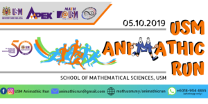 USM Animathic Run 2019 @ School of Mathematical Sciences, USM, Penang, Malaysia