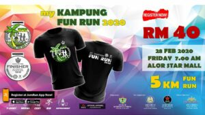 My Kampung Fun Run @ Alor Setar Mall Behind Parking Lots