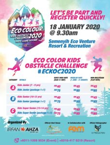 Semenyih Eco Color Kids Obstacle Challenge 2020 @ Semenyih Eco Venture Resort & Recreation