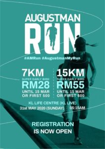 The August Man Run 2020 @ Life Centre, 20, Jalan Sultan Ismail, 50250 KL.