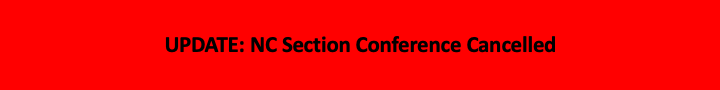 NC Section Conference Cancelled