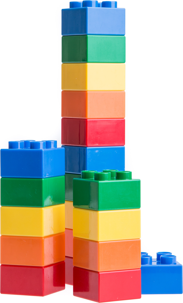 A colorful stack of Legos