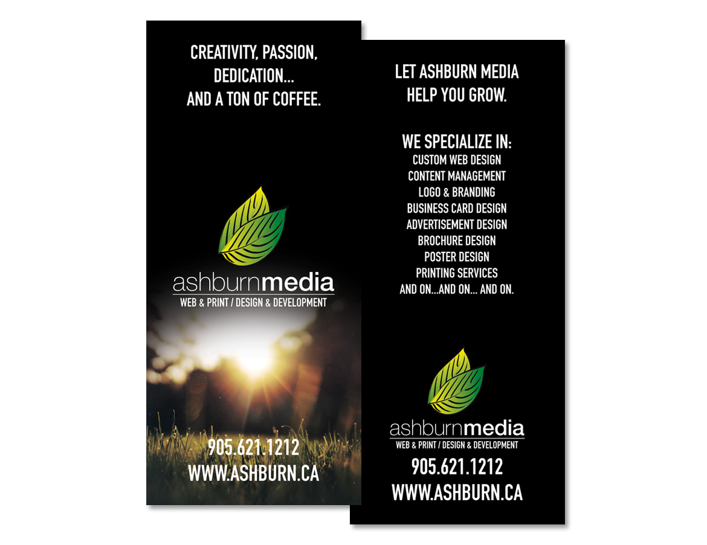 Ashburn Media Promotional Postcard