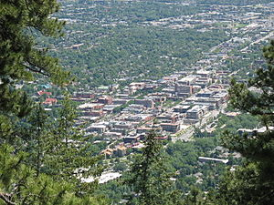 Boulder as seen from foothills
