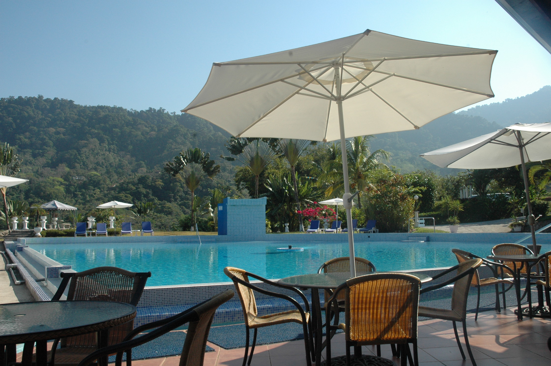uvita hotel cristal ballena pool umbrella