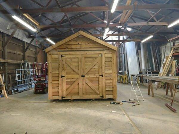 10x12 all cedar building