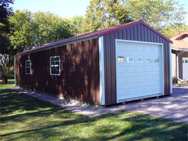 Swede's Buildings - Portable Shed Red