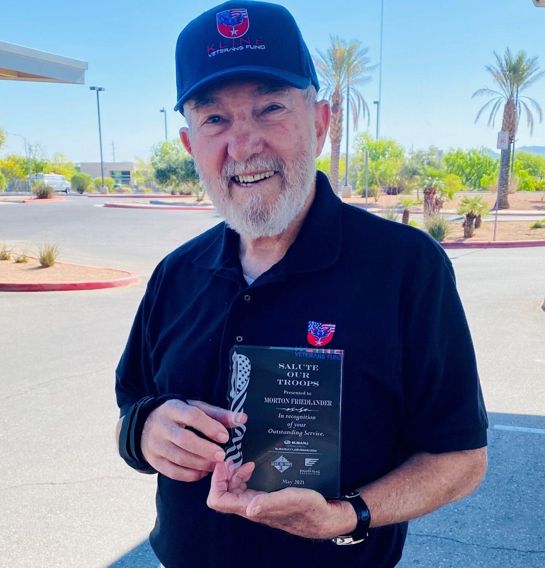 Mort Friedlander wins May 2021 Salute to Veterans Award
